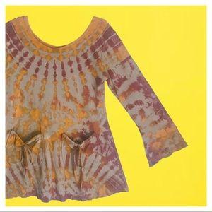 Tops - Tie-Dye Sweater Top